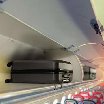 Aerolite Leichtgewicht ABS Hartschale 4 Rollen Handgepäck Trolley Koffer Bordgepäck Kabinentrolley Reisekoffer Gepäck, Genehmigt für Ryanair, easyJet, Lufthansa, Jet2 und viele mehr, Kohlegrau - 5