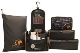 Das PACKHACK Reiseset - Packwürfel Set, Kulturtasche zum Aufhängen und Wäschebeutel für maximale Flexibilität und Organisation im Koffer, Rucksack, Handgepäck & Co. | Kofferorganizer + Kulturbeutel - 1