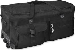 GearUp Extra großer Trolley - Reisekoffer Reisetasche 80 100 120 oder 150 Liter wählbar Farbe Schwarz/150 Liter - 1