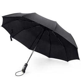Roebury Regenschirm (Windsicher & Sturmfest) - Mini Outdoor Taschenschirm Reise Schirm mit Auf-Zu Automatik und 105cm Durchmesser - 1