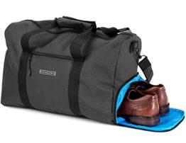 Ronin's Stilvolle Sporttasche Reisetasche mit Schuhfach und Trinkflaschen-Halter | 38 Liter Handgepäck Tasche 55x40x20 | Hochwertige Canvas Weekender Tasche für Damen und Herren - 1