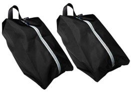 TRAVANDO ® Schuhtasche 2er Set | Wasserfeste Schuhbeutel Reise, Koffer, Gepäck | Schmutzabweisender Schuhsack Reise für Schuhe, Urlaub Shoebag Tasche zur Trennung von Schuhen und Kleidung Reisezubehör - 1